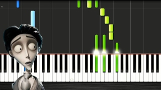Victor's Piano Solo (Corpse Bride) - SLOW Piano Tutorial 50% Speed