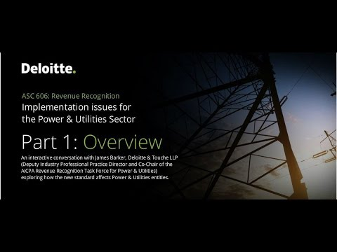 Implementation issues for the power and utility sector Part 1: Overview