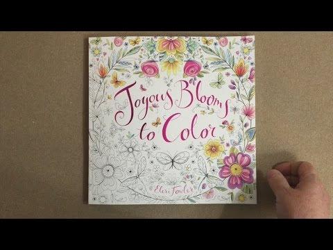 Joyous Blooms To Color Flip Through