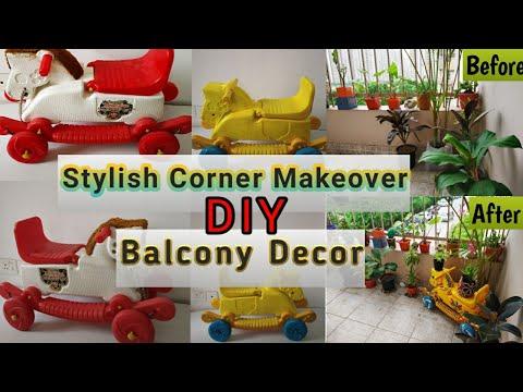DIY Indian Style Balcony Makeover || Corner Decor Idea || Garden Stories Ep. 7