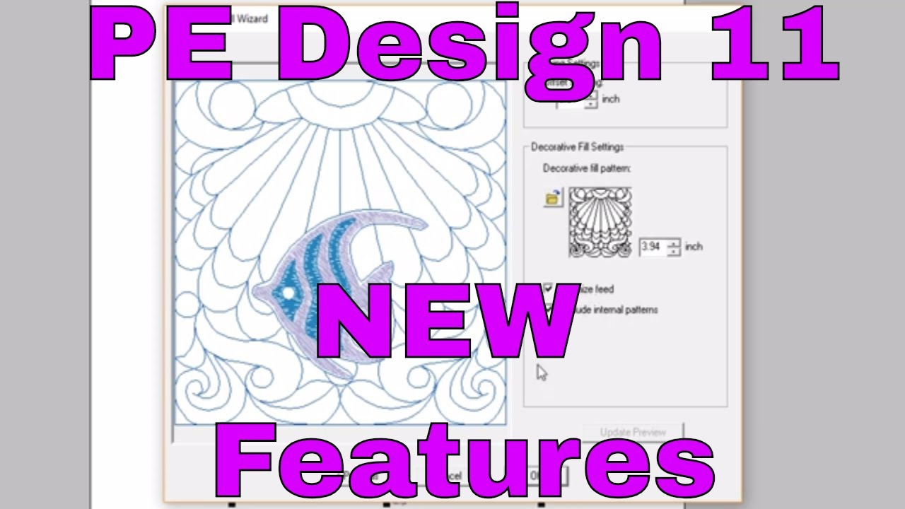 Pe Design 10 To Pe Design 11 New Embroidery Machine Stitches Quilting Youtube