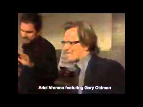Gary Oldman and Ariel Vromen dancing (