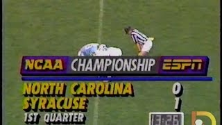 OLD SKOOL Lacrosse: NCAA Mens semifinal 1990  Syracuse vs North Carolina
