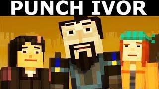 Jesse Tries To Punch Ninja Ivor - Minecraft: Story Mode Season 2 Episode 4: Below The Bedrock