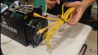 Unboxing & Setup Power Supply & BitMain AntMiner S5 - BitCoin
