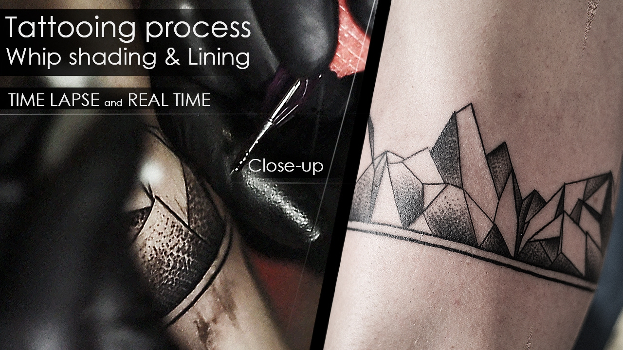 Tattooing Process Techniques Whip Shading Lining Time Lapse