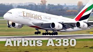 Flugzeug Start vom Airbus A380 von Emirates