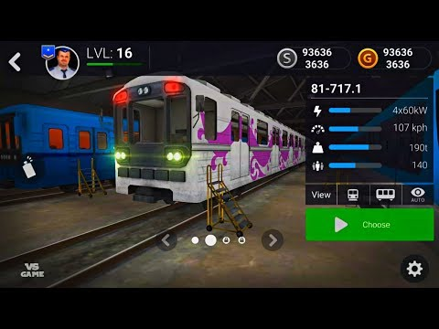 New Train Subway Simulator 3D PRO Red Line Android Gameplay