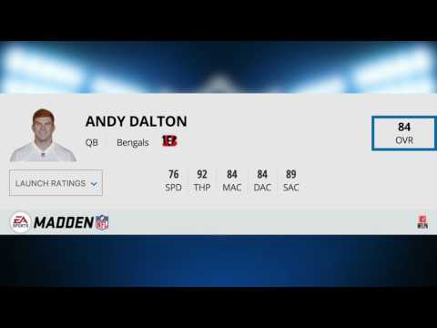 TOP MADDEN 18 QUARTERBACK STATS REVEALED! LAUNCH DAY MADDEN 18 PLAYER RATINGS!