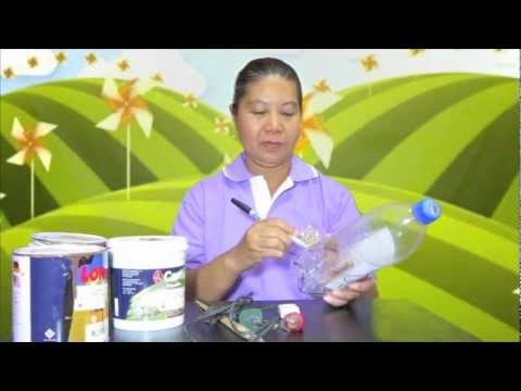 how to make a lamp out of plastic bottles