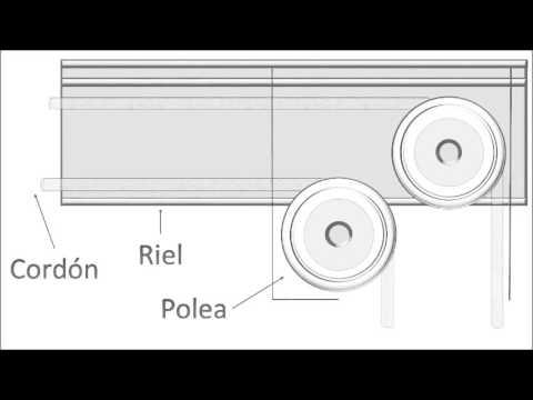 Poleas de aluminio para riel de cortinas youtube for Rieles para cortinas