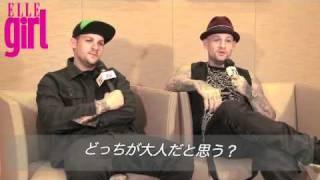 Joel & Benji Madden - ELLE Girl Japon Resimi