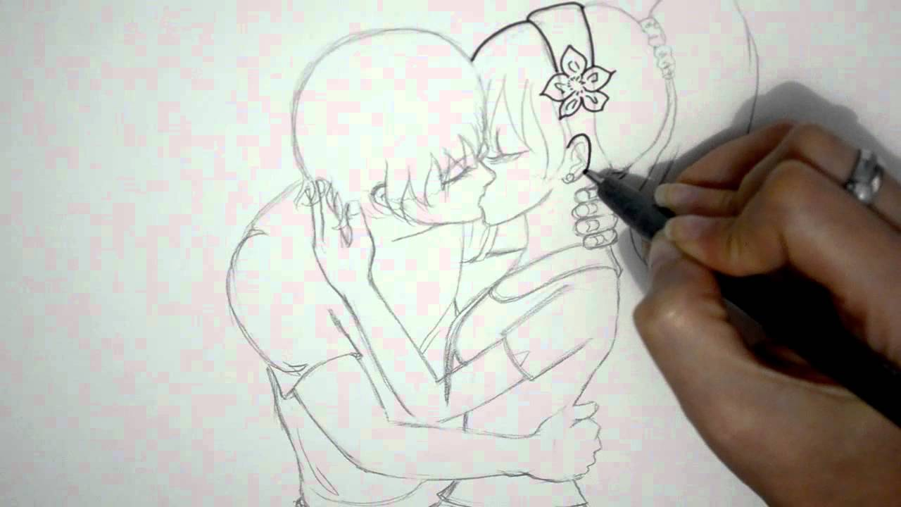 Worksheet. COMO DIBUJAR UNA PAREJA ANIME BESANDOSE DIBUJO DE AMOR  YouTube