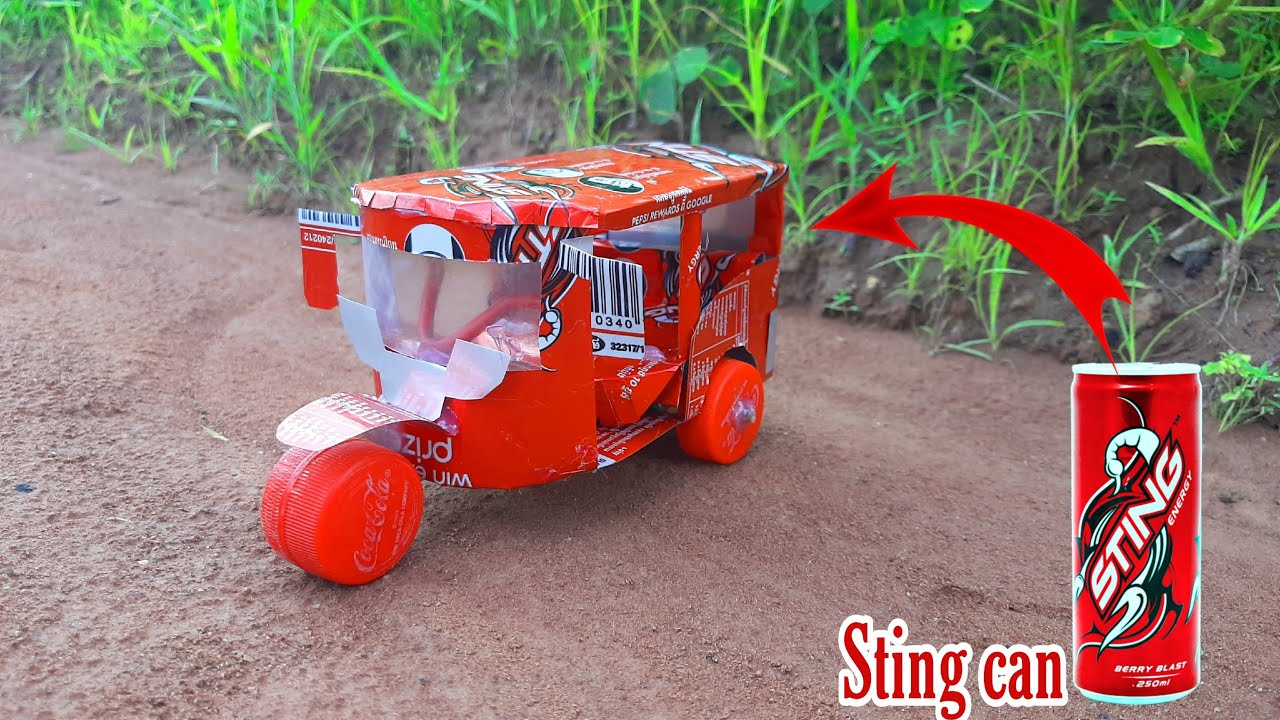 Download How To Make An Electric Rickshaw (Tuk Tuk)  Out Of Sting Cans