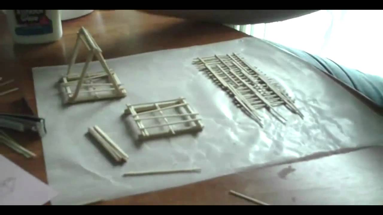Building A Toothpick Bridge Youtube
