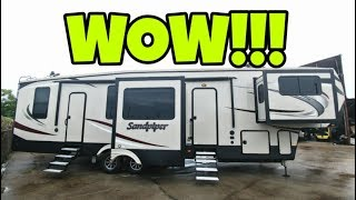 MASSIVE HOUSE SIZE RV! Check out this Fifth Wheel!