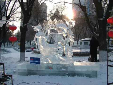 Снежные и ледовые скульптуры  - там где снега почти нет!