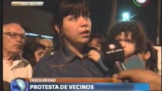 Vecinos de Las Talitas protestan por la inseguridad
