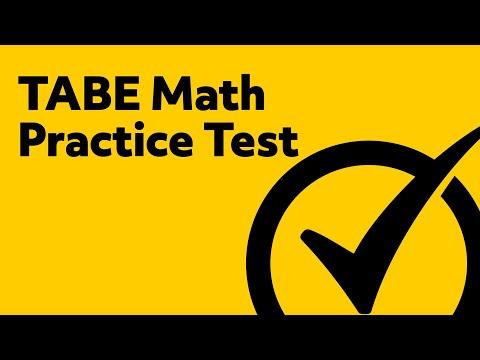 Free TABE Math Practice Test
