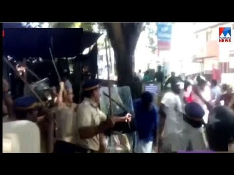Chavakkad harthal story: Conflict in AIYF march to police station for beatening students