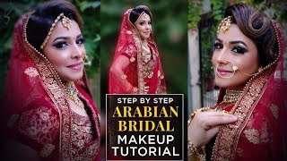 Arabian Bridal Makeup Tutorial   2018 Bridal Makeup Tutorial Trends   Step by Step Bridal Makeover