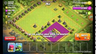 Clash of Clans! Farming Raid with Gobs and Archers!