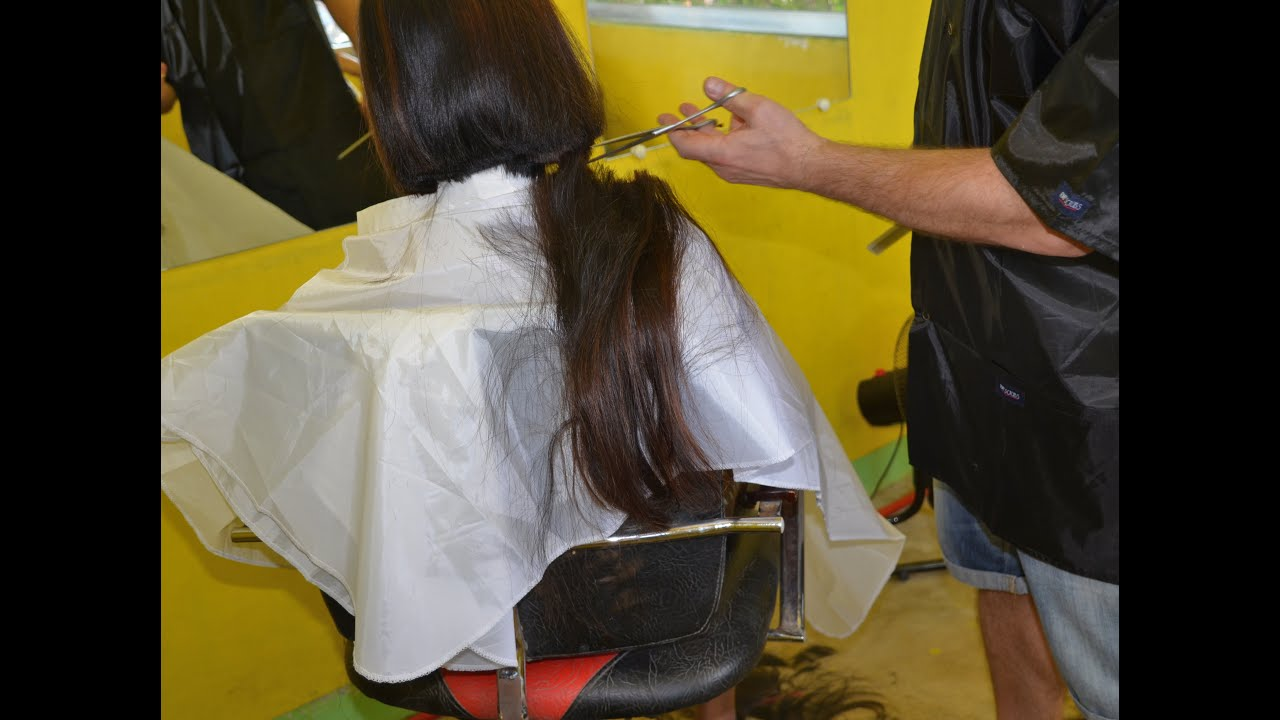 Long Hair To Bobcut By The Barber Youtube