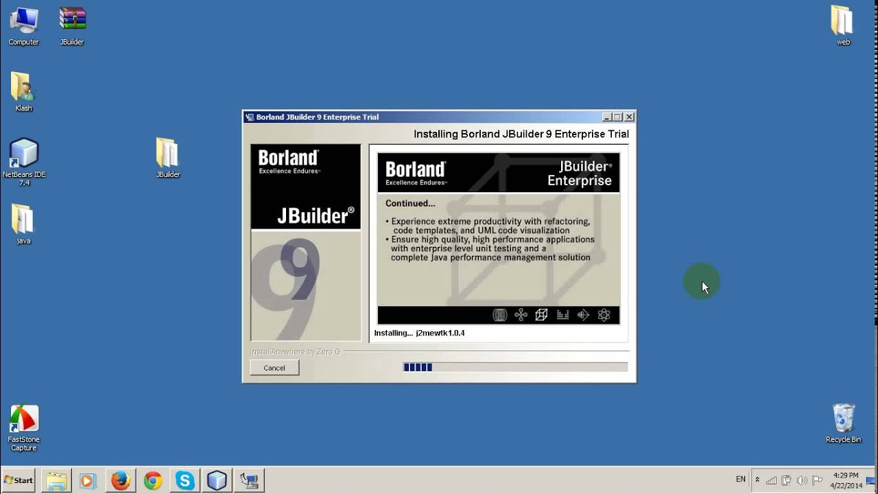 jbuilder pour windows 7