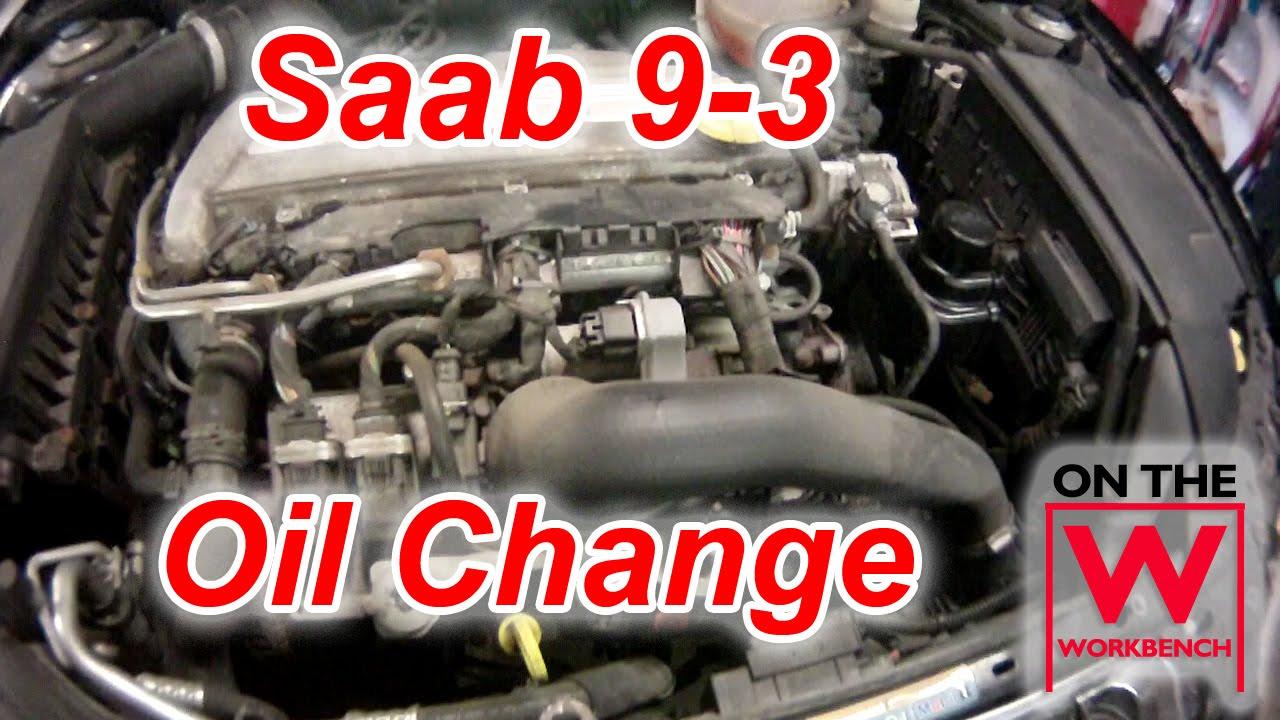 Saab 9-3 Oil Change - YouTube