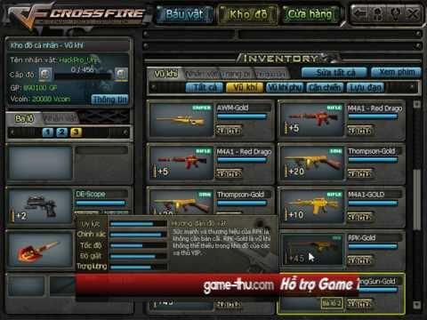 Hack Full báu vật CF, Hack súng đột kích cf, Bug súng CF vĩnh viễn, Hack Vcoin cf