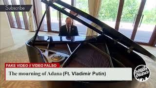 Владимир Путин играет на фортепиано «Скорбящую Адана»