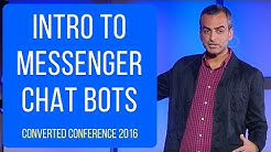 Intro to Messenger Chat Bots: Andrew Warner's talk at Converted 2016 by LeadPages