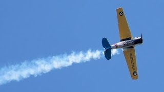Kevin Russo T-61 Military Aircraft Aerobatic Maneuver - Broome County Airshow 2014