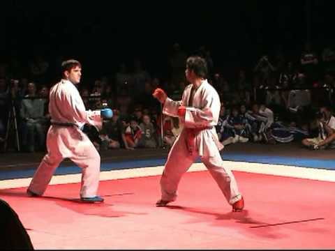 2007 USA NKF US Open male kumite final Aka rafael Aghayev vs Ao unknown