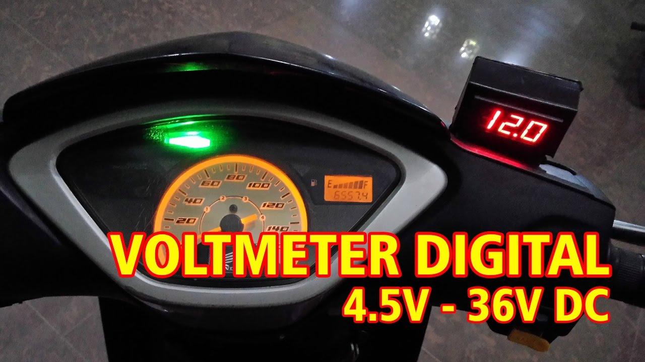 Cara Memasang Voltmeter Digital Pada Sepeda Motor Youtube Cr7 Green