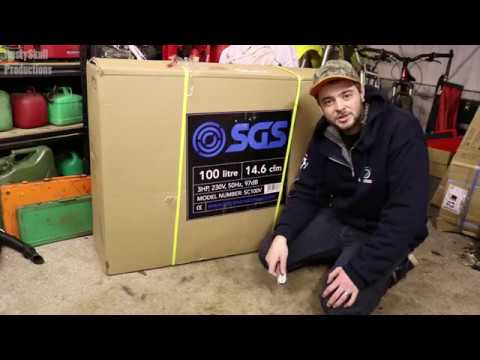 SGS 100L Air Compressor Unboxing & First Look - RustySkull Productions