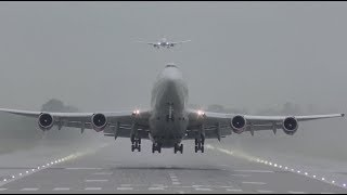 The Beauty of Boeing 747 my Favourite moments landing and takeoffs