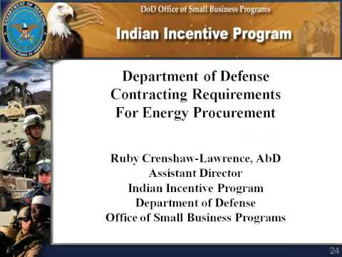Webinar: Defense Department Contracting Requirements for Energy Procurement