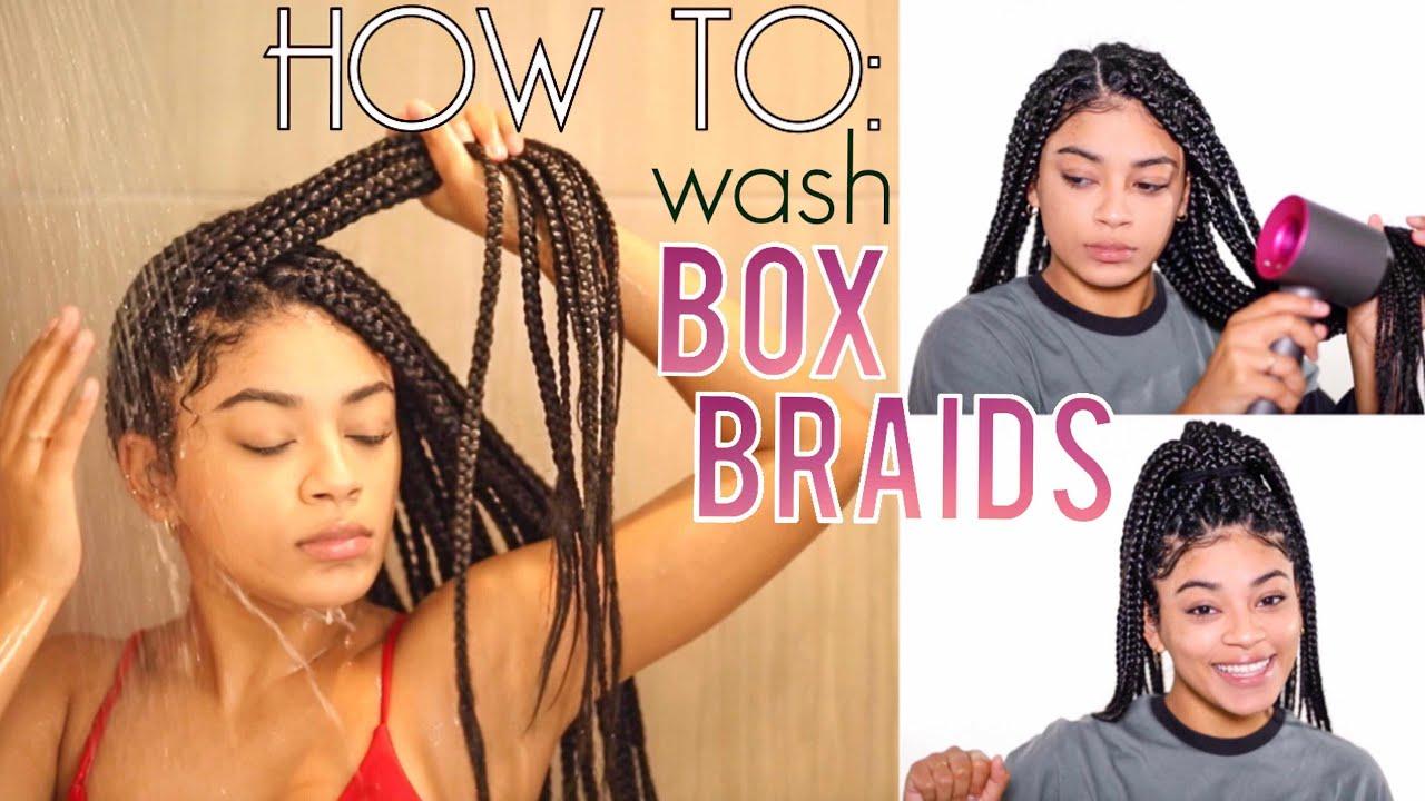 How To Wash Box Braids No Frizz Drying Hacks Jasmeannnn