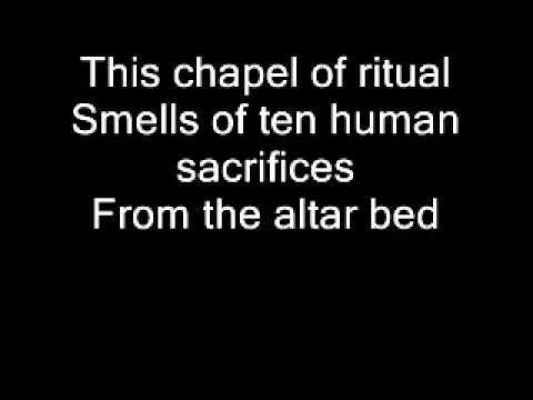 Ghost - Ritual Lyrics on screen