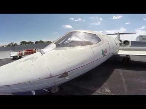 Abandoned Lear Jet