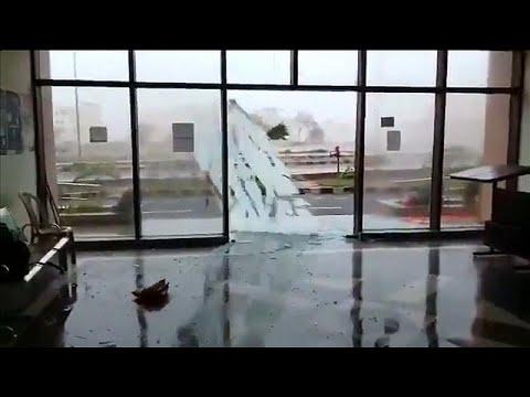 Doors and windows smash as Cyclone Fani lashes India