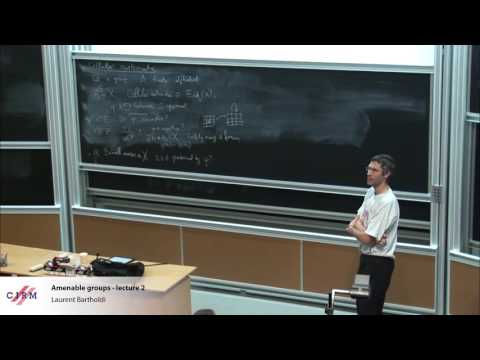 Laurent Bartholdi:  Amenable groups - Lecture 2