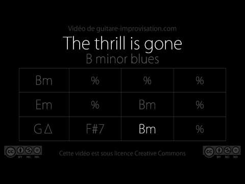 The Thrill Is Gone (Bm) (B.B. King) : Backing Track