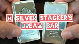 Stacking generic silver with a silver stacker's dream bar.  Buying Scottsdale stacker bars on sale!
