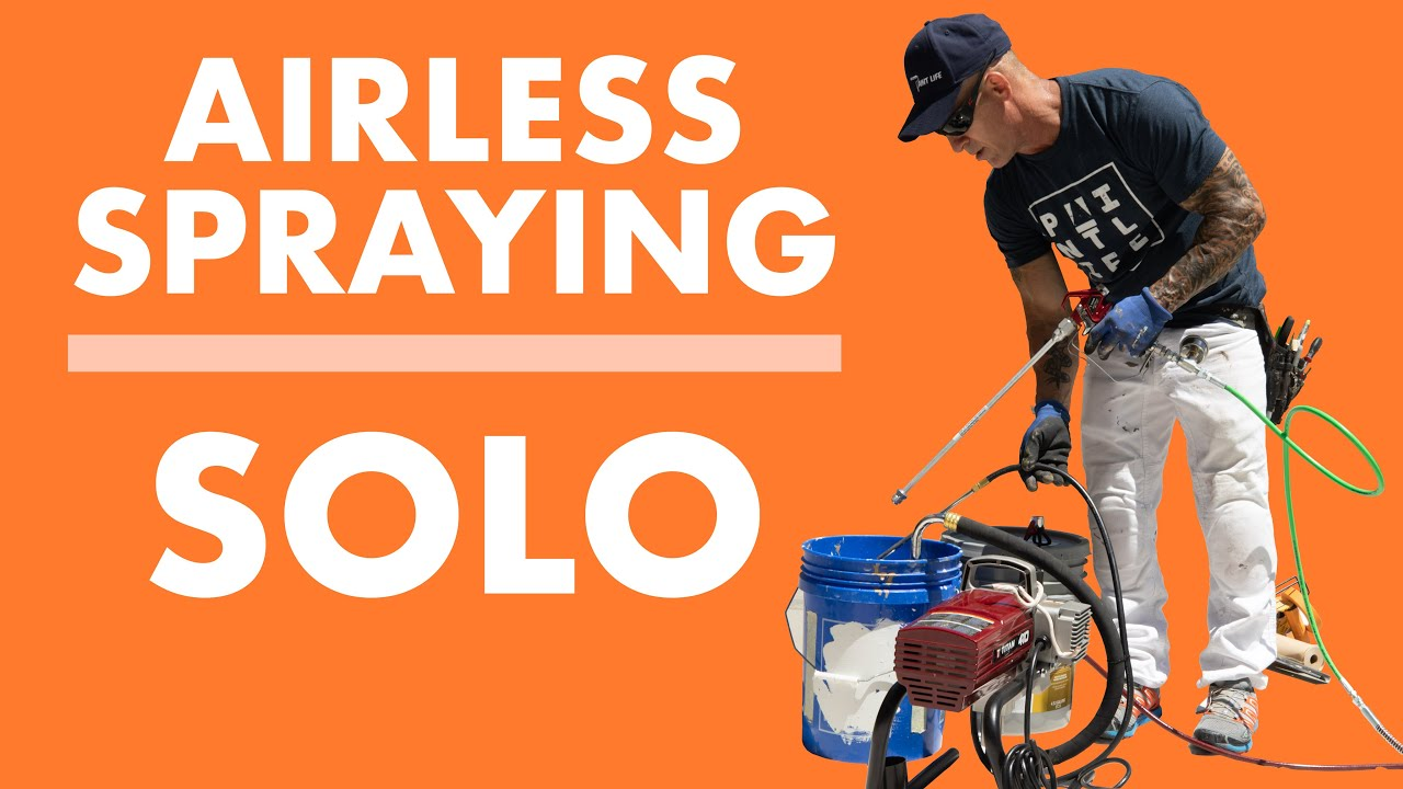 Airless Spraying SOLO: Painting a House