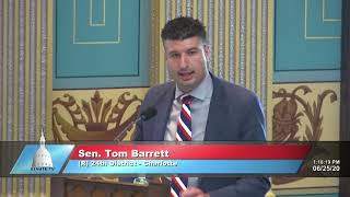Sen. Barrett addresses the Senate on Independence Day