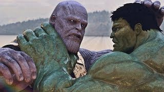THANOS Vs HULK In HULKBUSTER FIGHT INFINITY WAR SPIDER MAN Vs VENOM CAPTAIN MARVEL BLADE