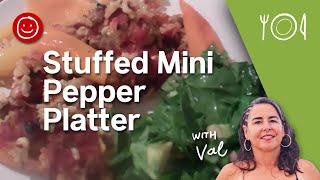 Stuffed Mini Pepper Platter