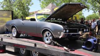 1969 Oldsmobile 442 Dyno Leander Car Show May 4th 2014 Blows Coolant Hose
